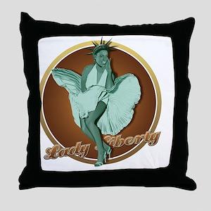 New York Lady Throw Pillow
