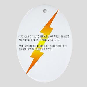 flash gordon Oval Ornament