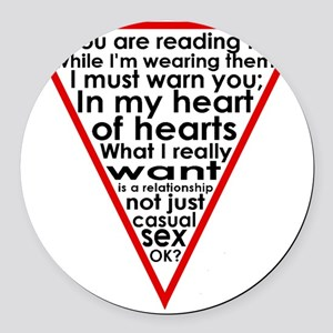 Warning Triangle 1 Round Car Magnet