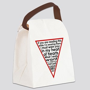 Warning Triangle 1 Canvas Lunch Bag