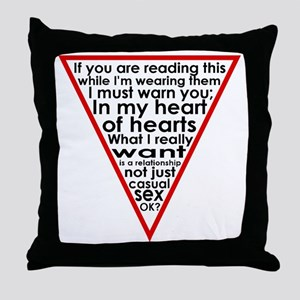 Warning Triangle 1 Throw Pillow