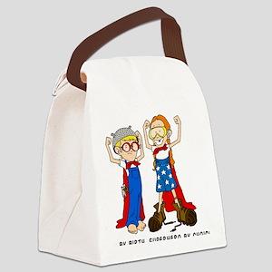 Superhero (Boy and Girl) Canvas Lunch Bag