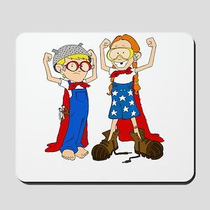 Superhero (Boy and Girl) Mousepad