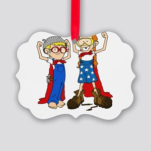 Superhero (Boy and Girl) Picture Ornament