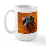Bumblebee on Marigold Large Mug