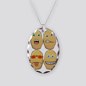 Spud Necklace Oval Charm
