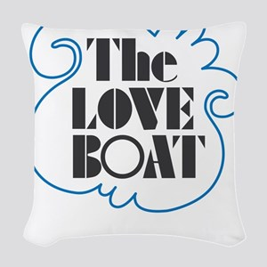 The Love Boat Woven Throw Pillow