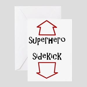 Superhero/Sidekick Greeting Card