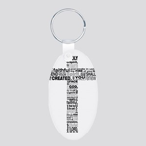 holy spirit Aluminum Oval Keychain