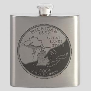state-quarter-michigan Flask