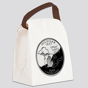 state-quarter-michigan Canvas Lunch Bag