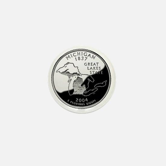 state-quarter-michigan Mini Button