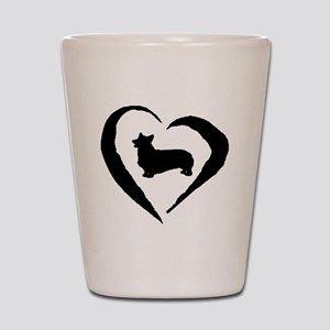 Pembroke Heart Shot Glass