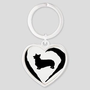 Pembroke Heart Heart Keychain