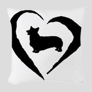 Pembroke Heart Woven Throw Pillow