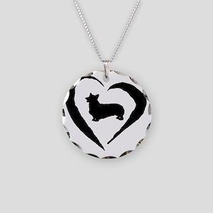 Pembroke Heart Necklace Circle Charm