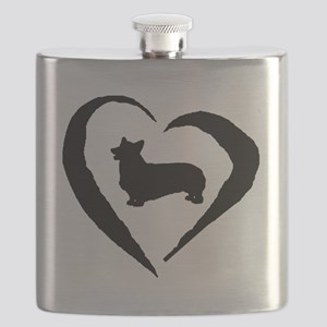 Pembroke Heart Flask