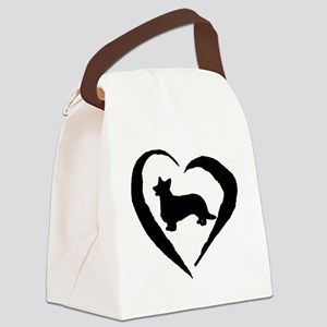Cardigan Heart Canvas Lunch Bag
