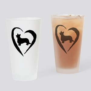 Cardigan Heart Drinking Glass