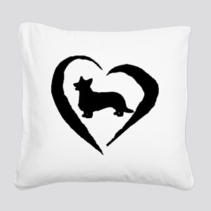 Cardigan Heart Square Canvas Pillow