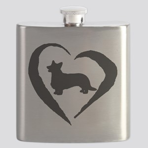 Cardigan Heart Flask