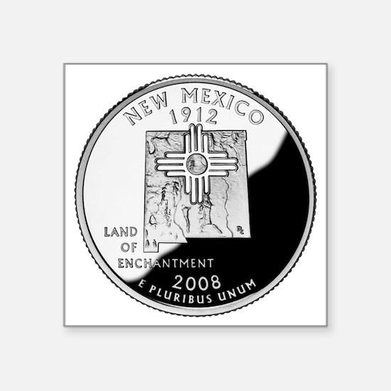 "coin-quarter-new-mexico Square Sticker 3"" x 3"""
