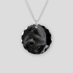DSC00965 B Necklace Circle Charm