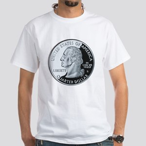 quarter-heads-george-02 White T-Shirt