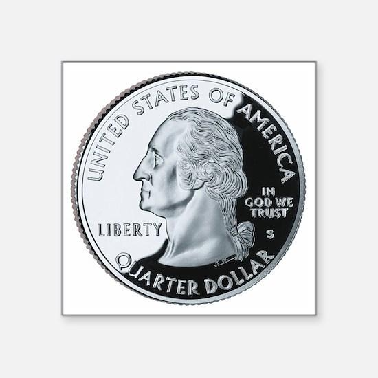 "quarter-heads-george-02 Square Sticker 3"" x 3"""