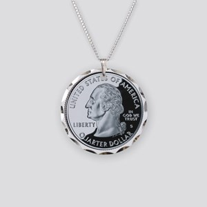 quarter-heads-george-02 Necklace Circle Charm