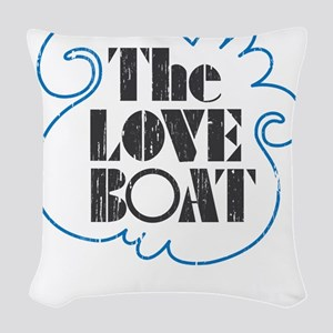 The Love Boat VINTAGE Woven Throw Pillow