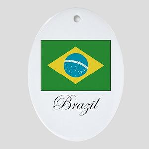 Brazil - Flag Oval Ornament