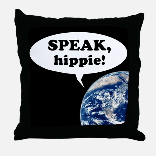 speak hippy10x10 Throw Pillow