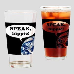 speak hippy10x10 Drinking Glass