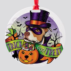 NEW_TRICK_FOR_TREAT Round Ornament