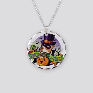 NEW_TRICK_FOR_TREAT Necklace Circle Charm