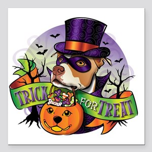 "NEW_TRICK_FOR_TREAT Square Car Magnet 3"" x 3"""