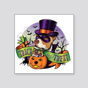 "NEW_TRICK_FOR_TREAT Square Sticker 3"" x 3"""