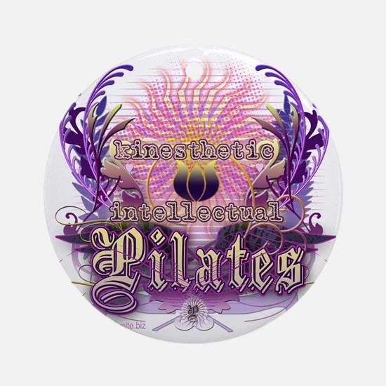 Pilates Kinesthetic Intellectual Lo Round Ornament