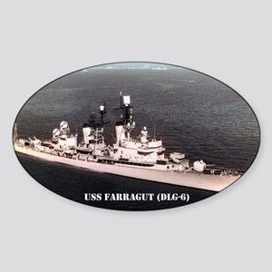 farragut dlg sticker Sticker (Oval)