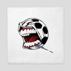 Screaming Soccer Ball Queen Duvet