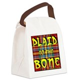 Plaid to the bone Canvas Lunch Bag
