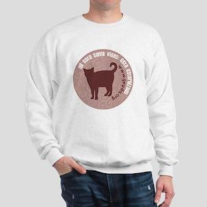 3-pgato redondo Sweatshirt