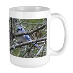 Blue Jay in Apple Tree Large Mug