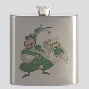BullFrogFrontBlack Flask