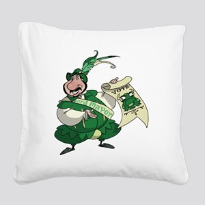 BullFrogFront Square Canvas Pillow