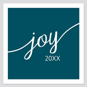 Joy Custom Year Blue Invitations