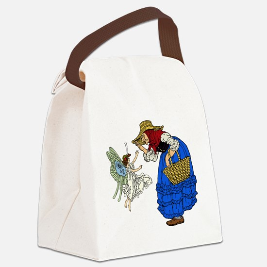 Old woman with fairy Canvas Lunch Bag