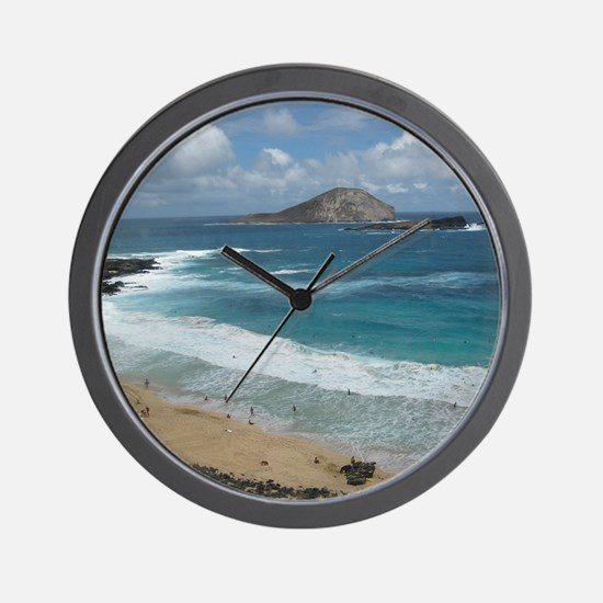 Oahu Coastline Wall Clock