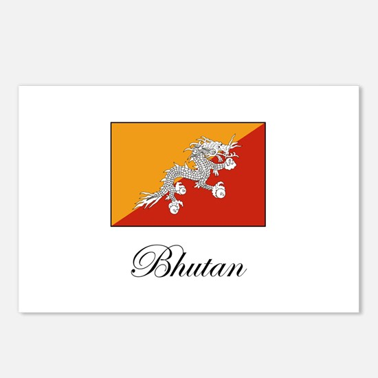 Bhutan - Flag Postcards (Package of 8)
